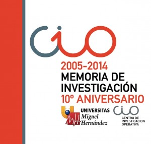 Portada Memoria Invetigación 2005-2014 del CIO